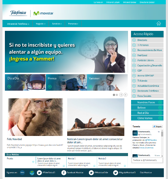 Intranet Telefónica Chile